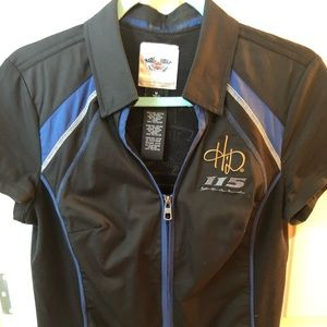 Harley Davidson ladies zip shirt nwot